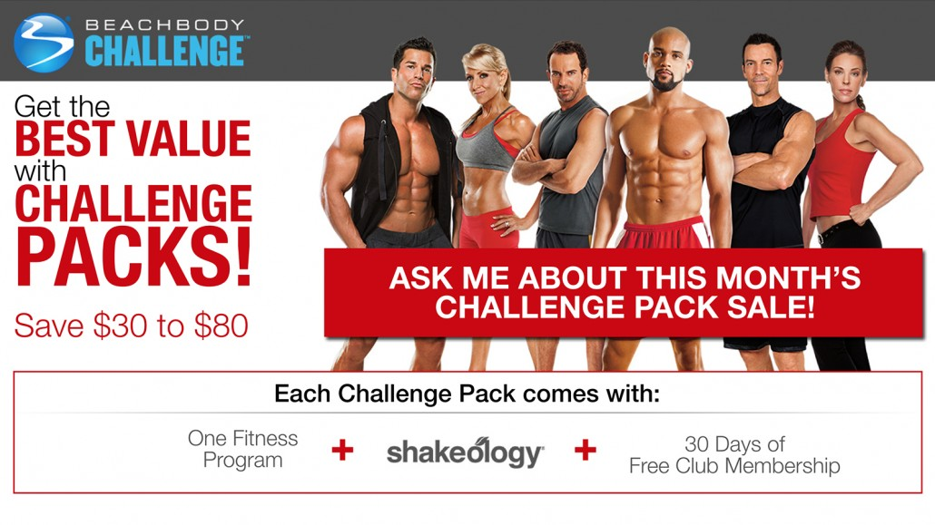 Beachbody Challenge Pack Savings