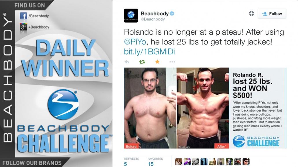 Beachbody Challenge Winner