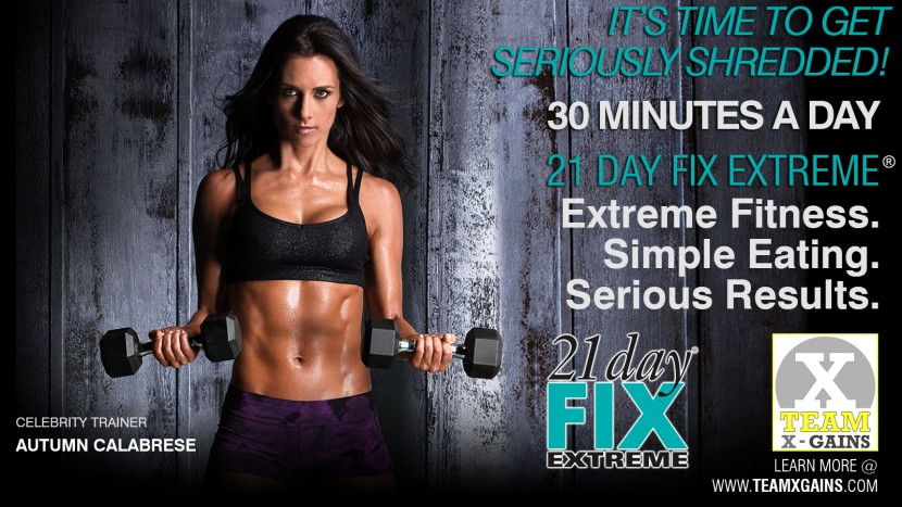 21 DAY FIX EXTREME – GET SERIOUSLY SHREDDED